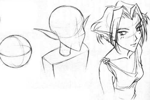 учимся рисовать аниме картинки: